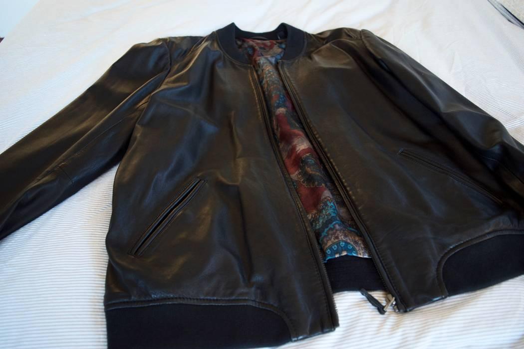 39deb6016333b Ted Baker Men s Ovid Leather Jacket UK Size 5 (US XL) Bomber Style Size