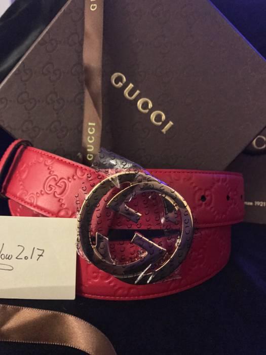 b67f1b4b0b6 Gucci New Gucci Interlocking G Red Guccissima Supreme Size 90cm 29-32 Size  30