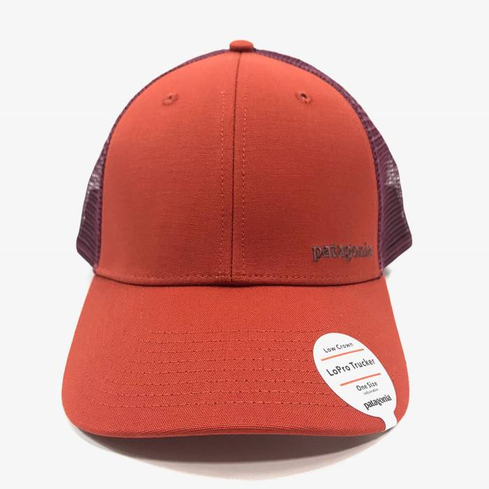 Patagonia Patagonia Unisex Mens WMNS Low Crown Small Text Logo LoPro  Trucker Hat - Red   7c90c5f0bf2