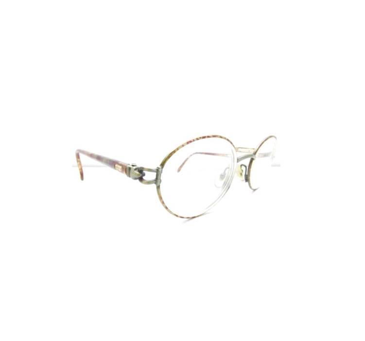 Gucci Vintage 90s Oval Round Tortoise Gunmetal Gucci Eyeglasses ...