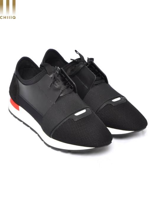 4e24102d2039 Balenciaga New Black Multimaterial Race Runners Sneakers Size US 9   EU 42