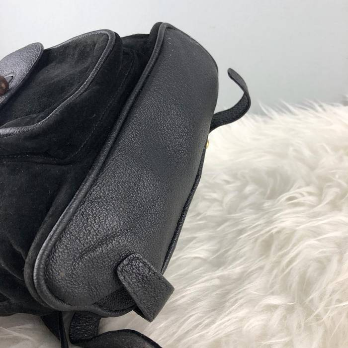 4a55452add Gucci RARE   COLLECTION Authentic Gucci Bamboo Suede Leather Black Mini  Backpack   Gucci Bamboo Bag