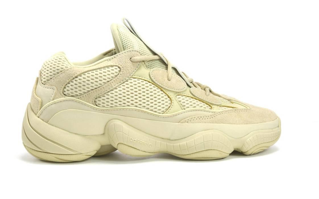 Kanye West DEADSTOCK adidas Yeezy 500 Desert Rat Moon Yellow Size 12 Size  US 12   3a3de4838