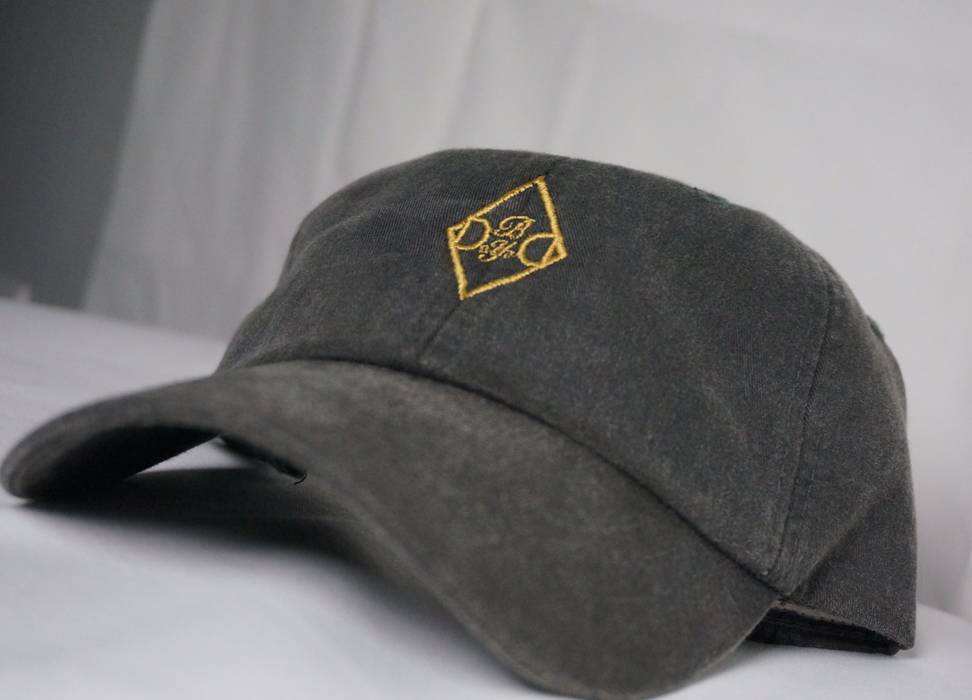 Adams Day By Day Dad Hat Black And Gold (leather strap) Size one ... 1594ae3c284
