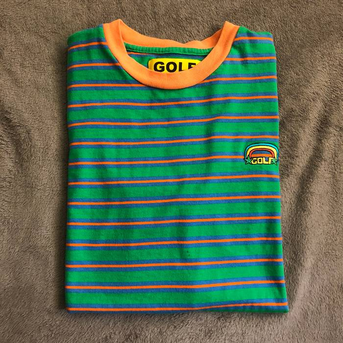 bfe358325f0c Golf Wang Golf Wang Rainbow Striped Tee Size l - Short Sleeve T ...