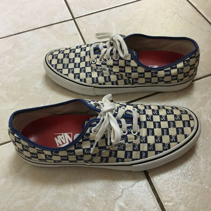 7db68f56de4f9b Supreme Supreme vans Authentic Checkered Blue Size 12 - Low-Top ...