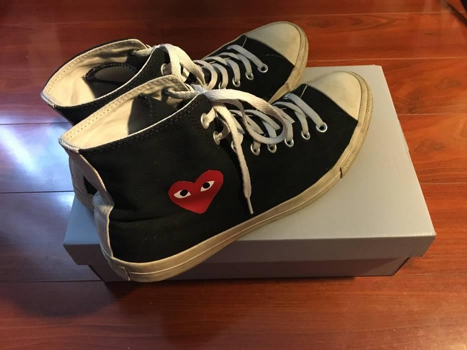 b04e59a6ba3e Converse CDG Play Hi-Top Black Small Heart Converse Size 11 - Hi-Top ...