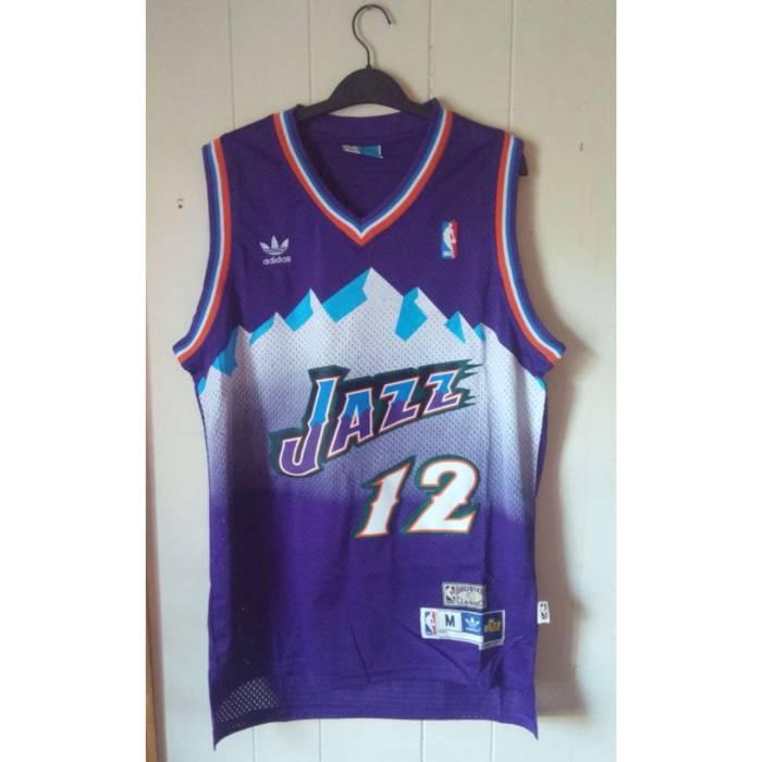 Adidas NBA Authentic Hardwood Classic Throwback Utah Jazz John Stockton Jersey  Size US M   EU 7e8380b10