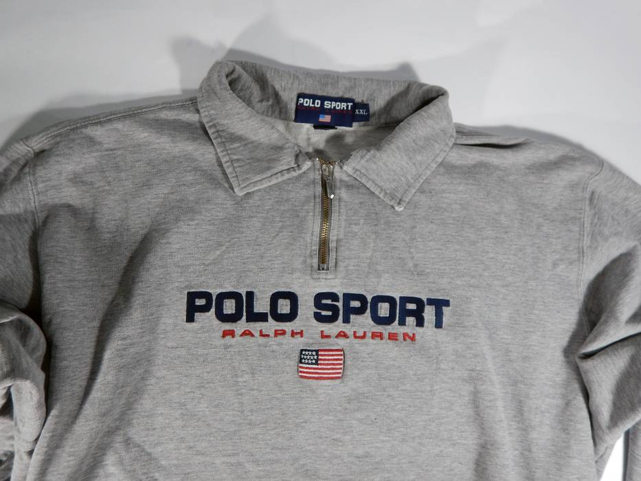 fbfa96755 australia polo ralph lauren vintage polo sport ralph lauren flag zip  sweatshirt oversize size us xxl