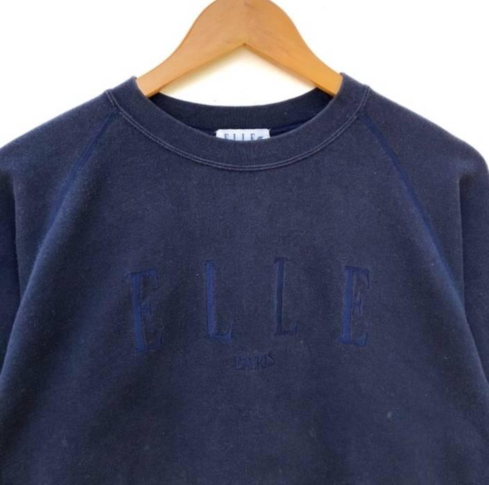 e70e8d8bdb13 Vintage Elle paris Sweatshirt Big Logo spell out Embroidery Sweat Medium  Size Jumper Pullover Jacket Sweater