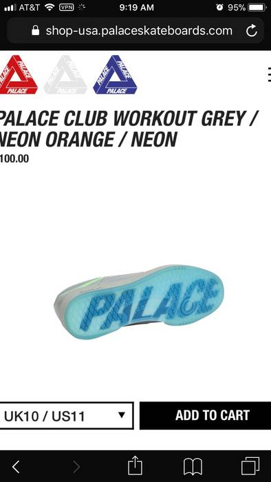4ca45b7a66c06 Palace Palace Reebok Club Workout Sneaker Size 12 - Low-Top Sneakers ...