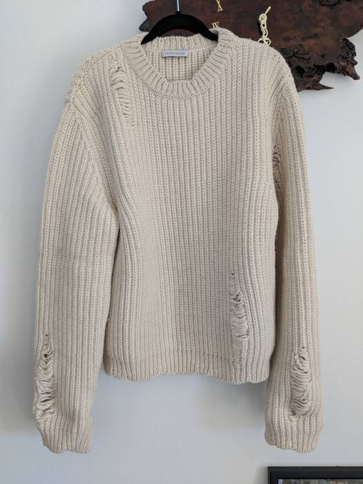 a1176bf546 J.W.Anderson Cream White chunky laddered sweater Size l - Sweaters ...
