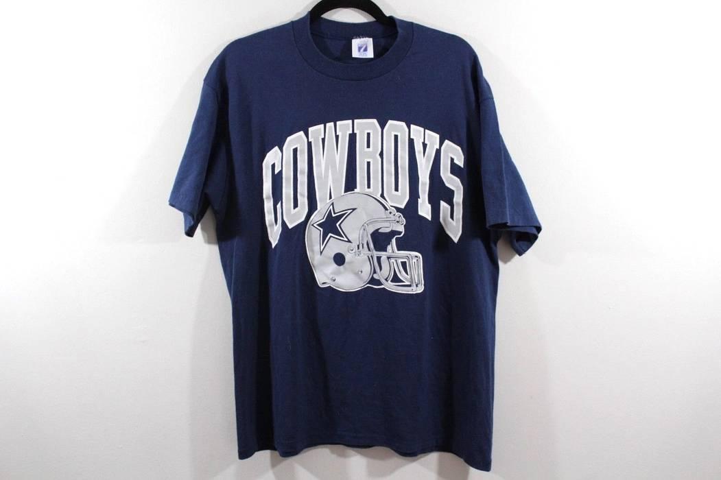 ec31f006d Vintage Vintage 90s LOGO 7 Mens XL Dallas Cowboys NFL Football Spell Out  Shirt Blue Size