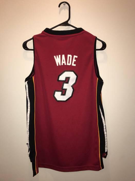 3eece9858 sale adidas miami heat dwyane wade jersey size us l eu 52 54 3 e9e5d 78cd0