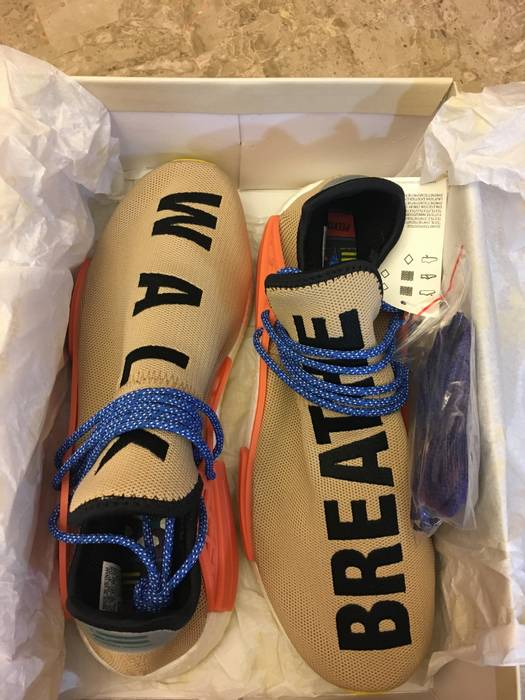 Adidas Pharrell Williams x adidas NMD Hu Trail Pale Nude Size US 10.5   EU  43 779b4f0bc7