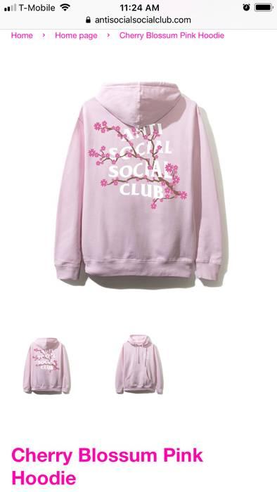 f183860055eb Antisocial Social Club. Pink Cherry Blossoms Hoodie. Size  US L   EU 52-54  ...