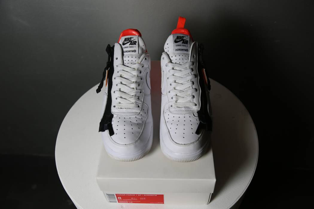 sports shoes 1f623 8ca42 ... authentic nike nike lunar force 1 sp acronym white white bright crimson  size us 198d9 6ff88