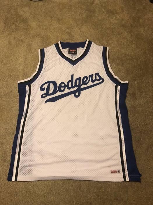 Los Angeles Dodgers  RARE Basketball Jersey US FREE SHIP Size l ... 20e99b26056