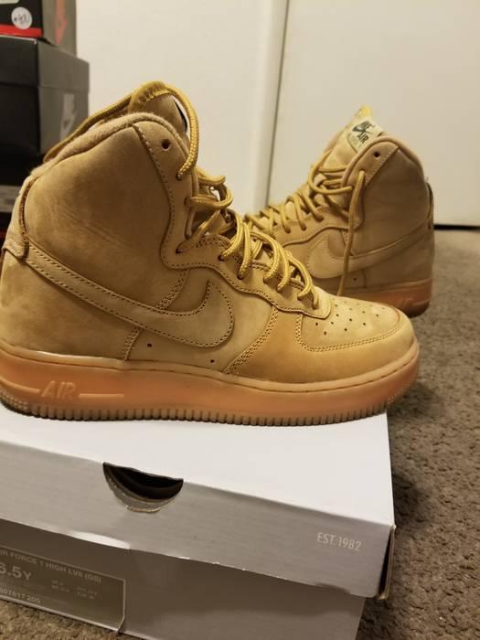 quality design 56f14 114b2 Nike. Air Force 1 High Flax