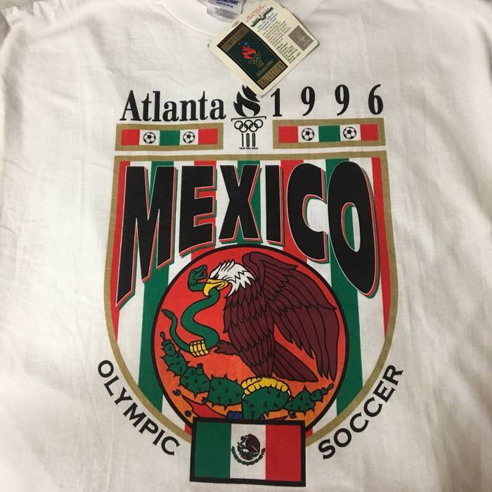 bf3e40db0 Vintage Mexico World Cup T Shirt Vtg 90s 1996 New Soccer Tee Men Adult  White Football
