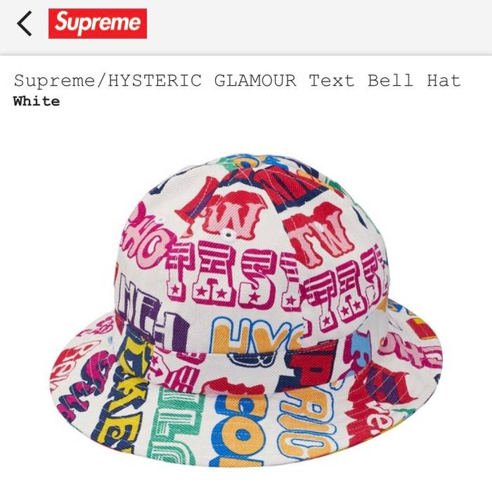 Supreme Supreme Hysteric Glamour Text Bell Hat Size one size - Hats ... 8772e7ff2c90