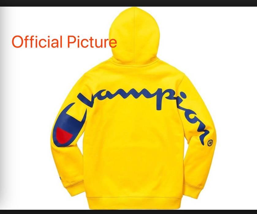 f2a598083a8e Supreme Supreme Champion hoodie Hooded Sweatshirt (SS18) Yellow Size US M    EU 48