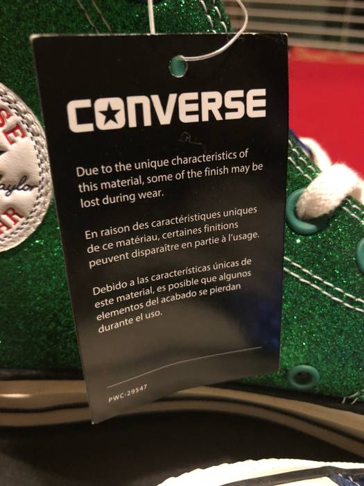55c37c4c5e6c55 Converse Converse Chuck Taylor All Star 70s Jw Anderson Glitter Blue green Black  Size