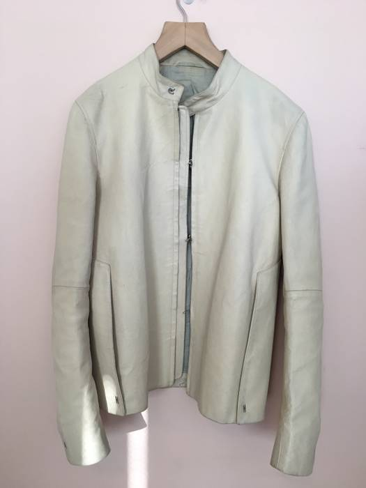 Carol Christian Poell. Carol Christian Powell Ivory Pig Leather Jacket c36d99e6c2a