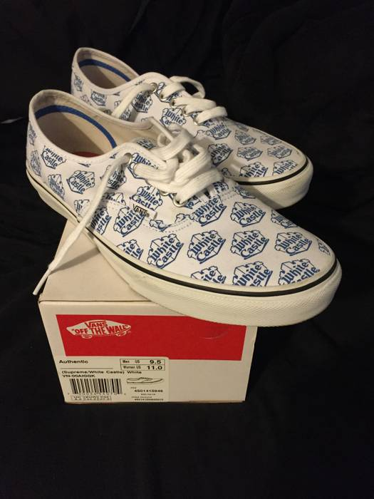 85a1836d767 Vans Supreme White Castle Vans Authentics Size 9.5 - Hi-Top Sneakers ...
