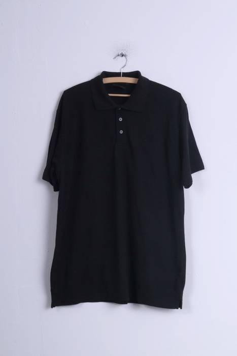 Dickies Dickies Mens 2XL Polo Shirt Black Cotton Plain Detailed ... 71ae11e6315