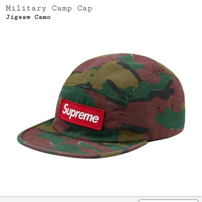 Supreme Military Jigsaw Camo Camp Cap Hat New (In Hand) Size ONE SIZE 3b1c6190743
