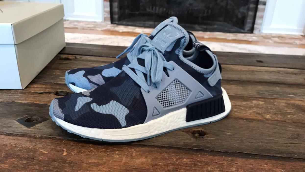 6c33ff9b9 Adidas Adudas NMD XR1 W Blue Camo BA7754 Women Mesh Midnight Grey Noble Ink  Size US