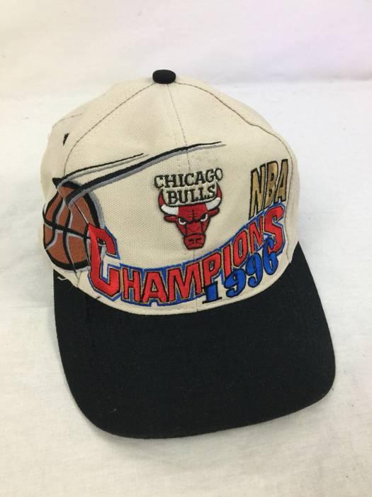 84744da3a1d Logo Athletic. Vintage 90s Chicago Bulls Champions NBA 1996 Logo Athletic  Hat. Size  ONE SIZE