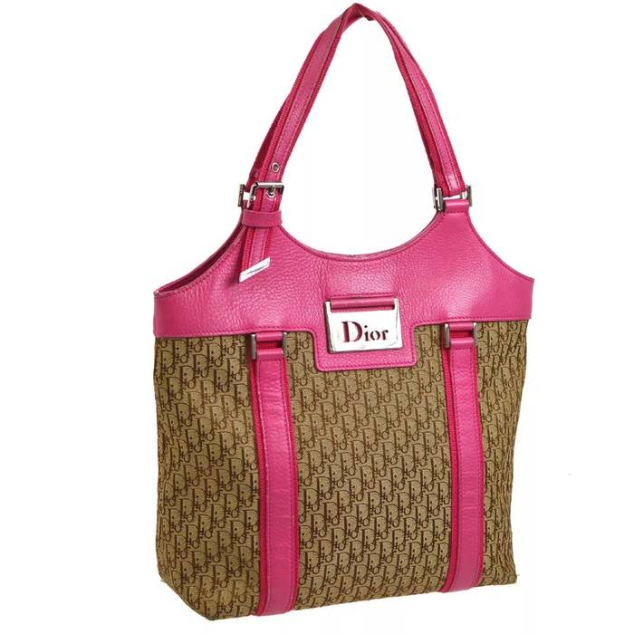 Dior Dior Monogram Pink Leather Handbag Size one size - Bags ... 3576bf2c2de8a
