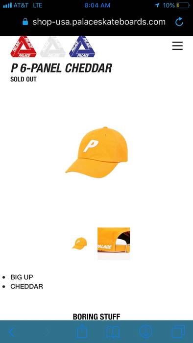 b1b6cb6af3d Palace P 6-Panel Cheddar Size one size - Hats for Sale - Grailed