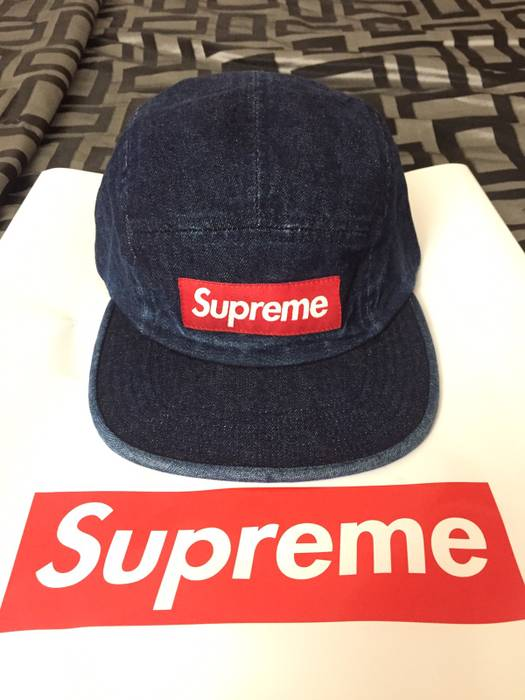 Supreme Supreme Washed Chino Twill Camp Cap Denim SS18 Size one size ... cb47d36f670