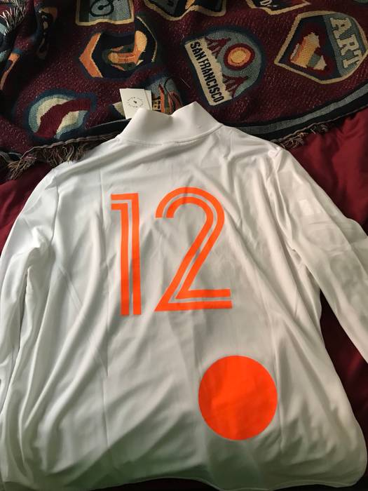 Nike Nike Off-White Football Jersey Mon Amour Soccer World Cup Long Sleeve  Jersey Size 7d62842d0