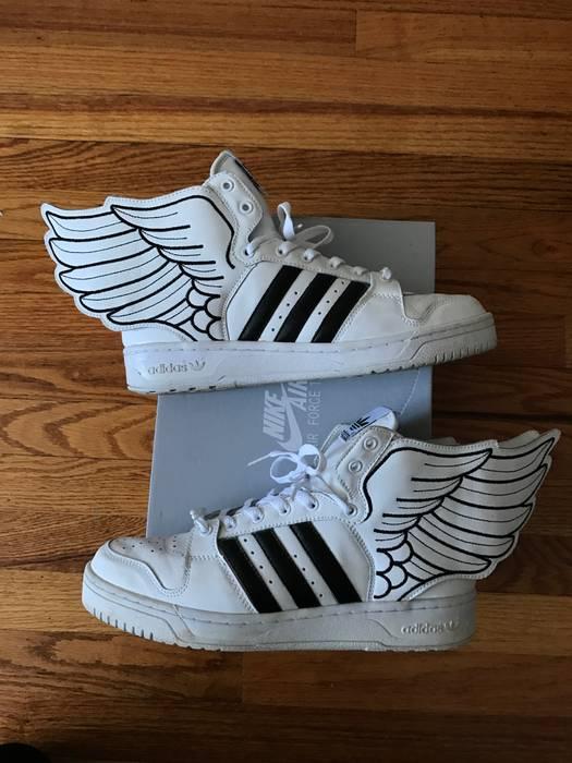 0c9732537129 Adidas Adidas X Jeremy Scott 2.0 JS Wings Black White Size 9.5 Size ...