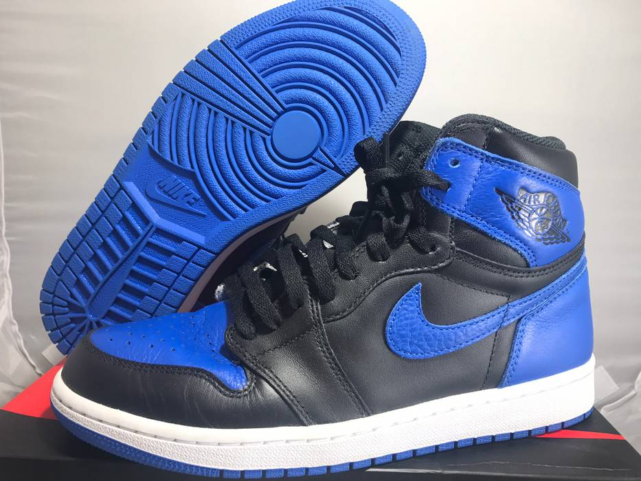 13be219dccc Jordan Brand Nike Air Jordan 1 Royal Blue Black High Retro OG 2017  555088-077