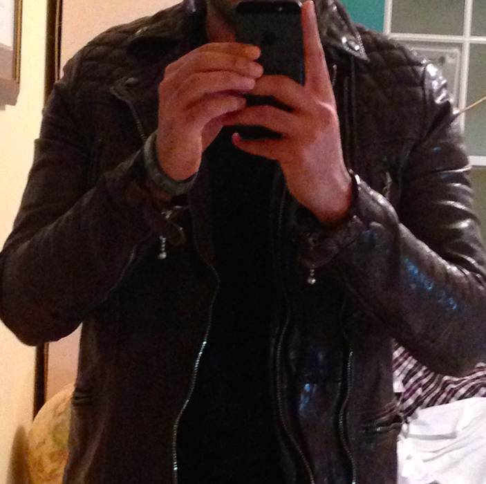 Allsaints Conroy Leather Biker Jacket Size S Leather Jackets For
