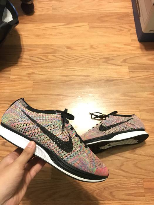4a83e4549fb8 Nike Flyknit Racer Multicolor Size 8.5 - Low-Top Sneakers for Sale ...