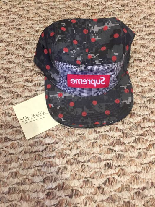 ceb4997e595 Supreme Polka Dot Camp Cap Size one size - Hats for Sale - Grailed