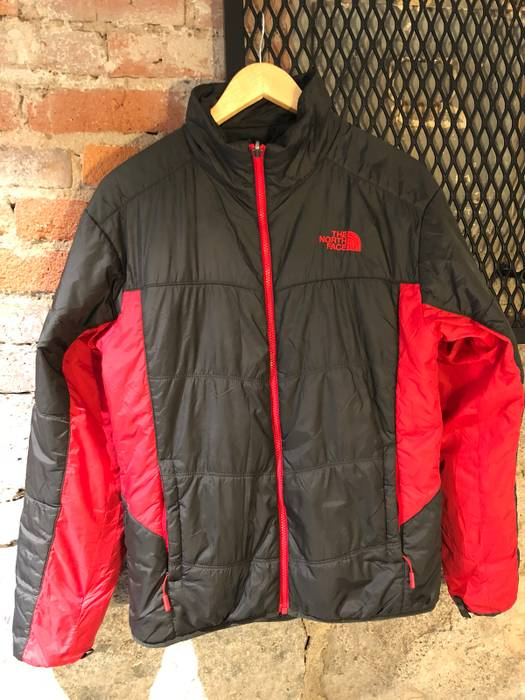 The North Face Down Filled Jacket Red Black Split TNF Light Weight ... 334f93a57