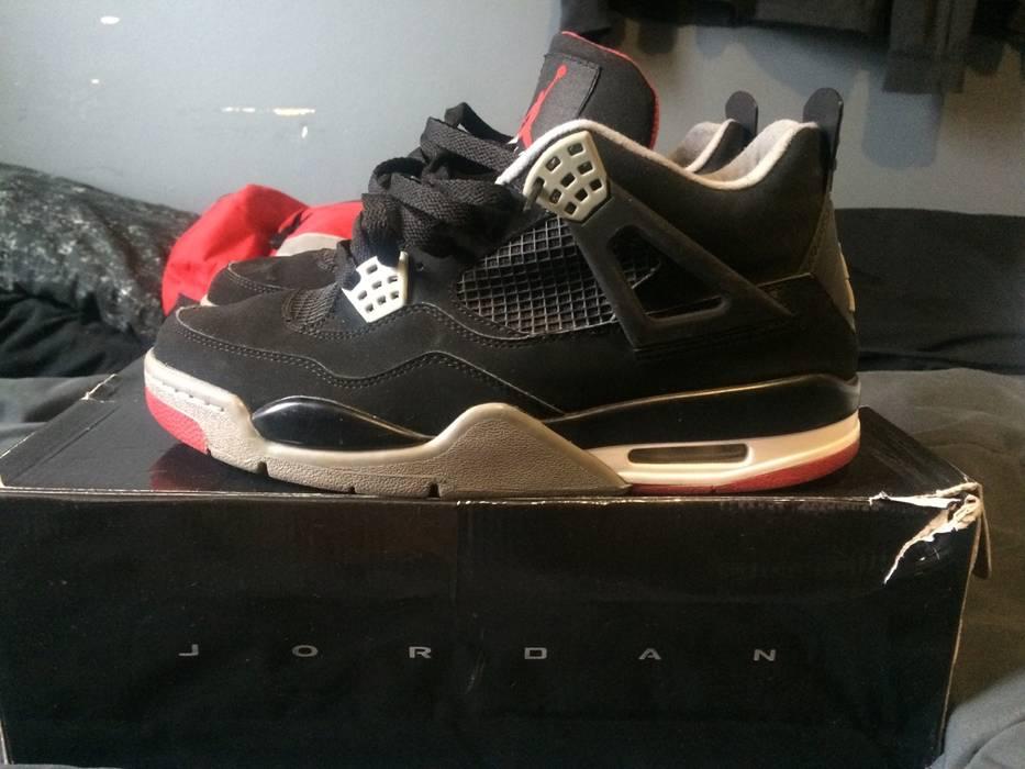Nike Jordan IV 4 BRED Promo Sample Size 9.5 - Hi-Top Sneakers for ... e764736bd206
