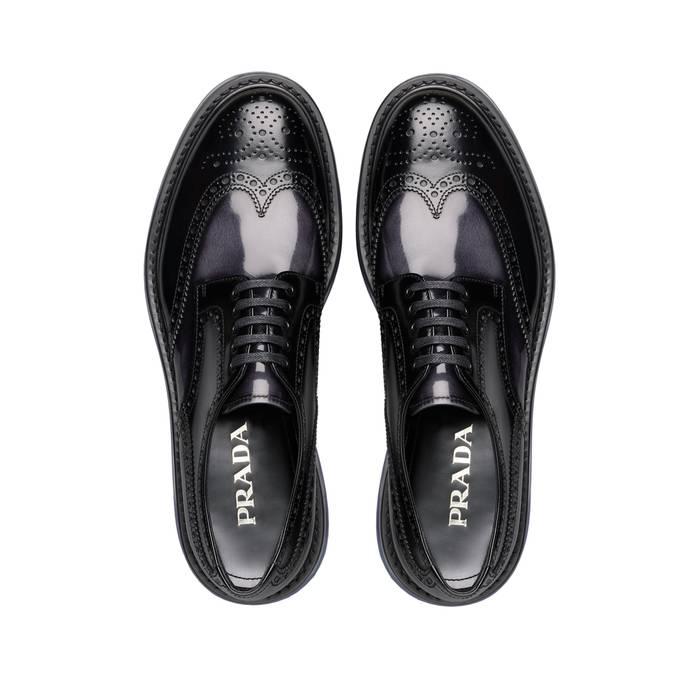 62c8f39eee6 Prada Leather Platform Derby Shoes Size 10 - Formal Shoes for Sale ...