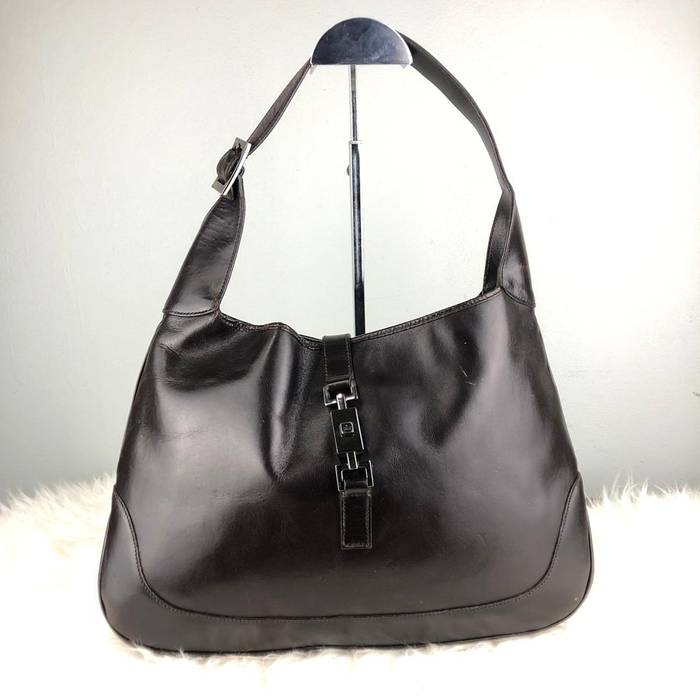 ea7b624193a Gucci. RARE   COLLECTION Authentic Gucci Jackie Large Leather Black  Shoulder Bag. Size  ONE SIZE