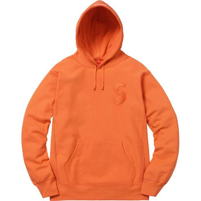 28d8545243d0 Supreme. Supreme F W 2017 Tonal S Logo Hooded Sweatshirt Orange CONFIRMED  ORDER. Size  US L   EU 52-54 ...