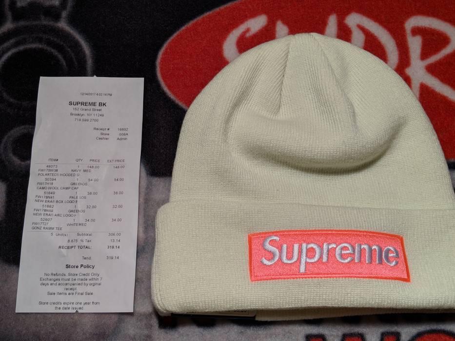 Supreme New Eras Box Logo Beanie Pale Lime Size one size - Hats for ... 507981a7b43