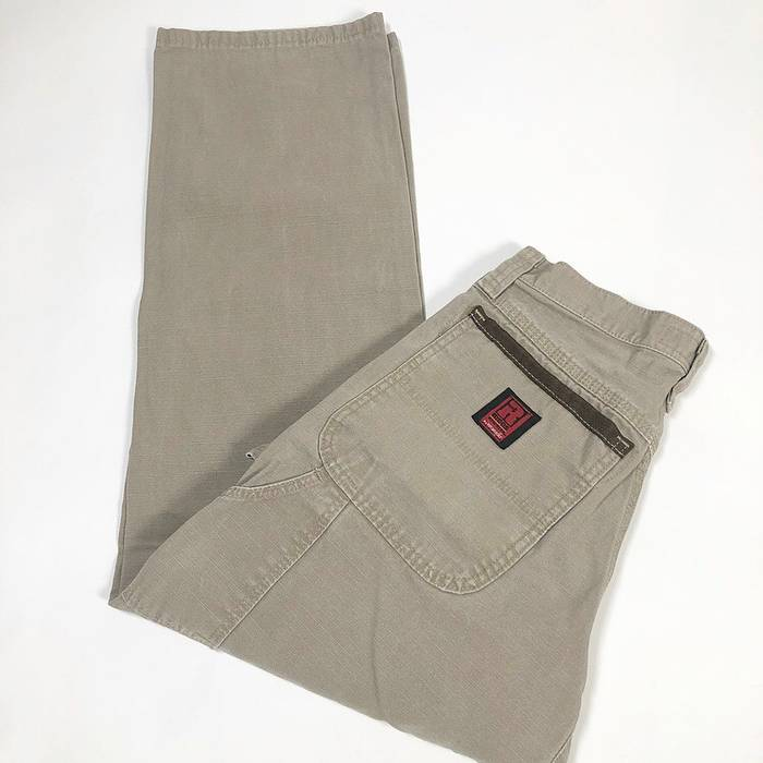 wrangler wrangler riggs ripstop workwear light tan carpenter pants