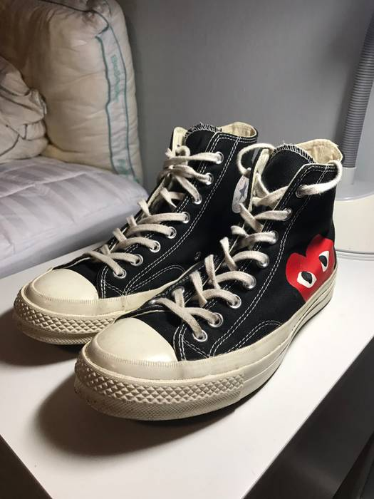 97fa2f0b075 Converse Comme des Garcons x Converse high top sneakers Size US 7   EU 40